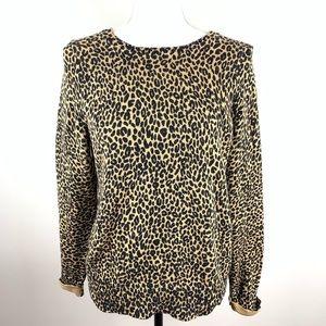 Ann Taylor Loft Cheetah Print Sweater Size Large